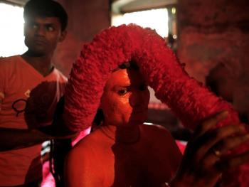 蒙希甘杰印度教徒迎新年的拉卡什02