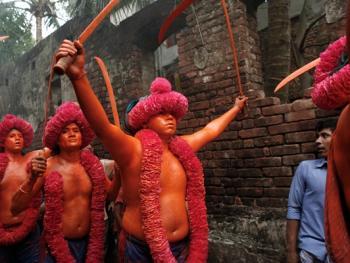 蒙希甘杰印度教徒迎新年的拉卡什04