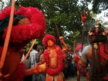 蒙希甘杰印度教徒迎新年的拉卡什09