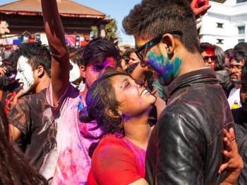 尼泊尔洒红节